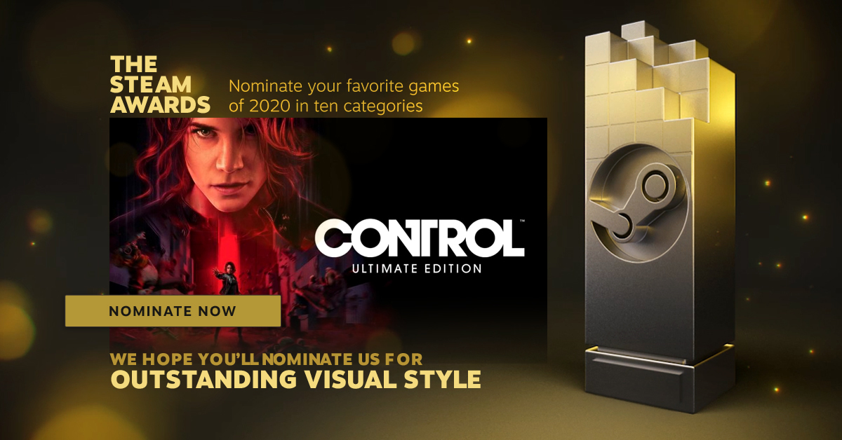 VOTE CONTROL ULTIMATE EDITION IN THIS YEARS STEAM AWARDS