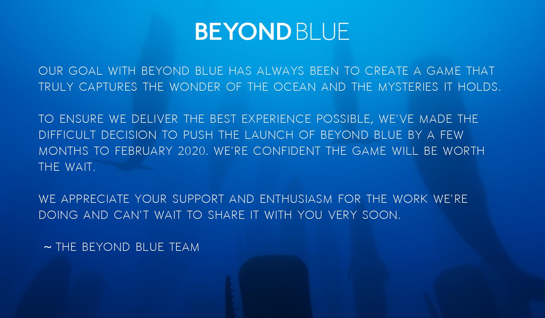 An Update About Beyond Blue
