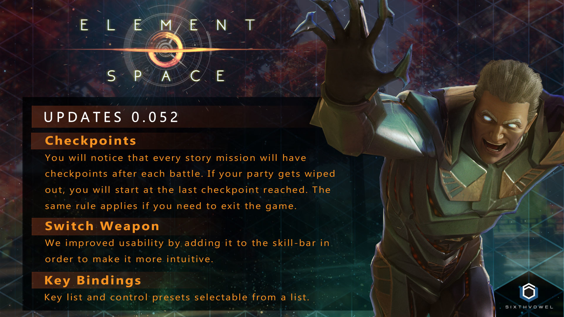 Jan 15 Update Version 0 0 52 | January 16th Element: Space