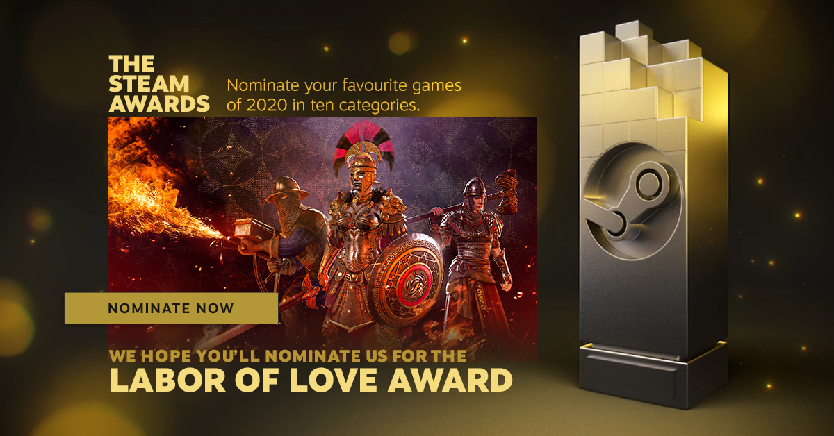 Nominate Conqueror's Blade in the Steam Awards 2020!