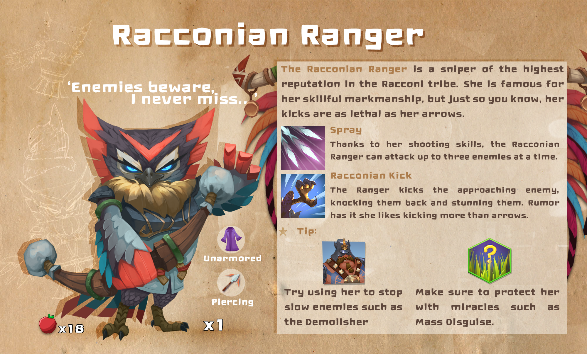 MINImax Tinyverse :: How to play: Racconian Ranger