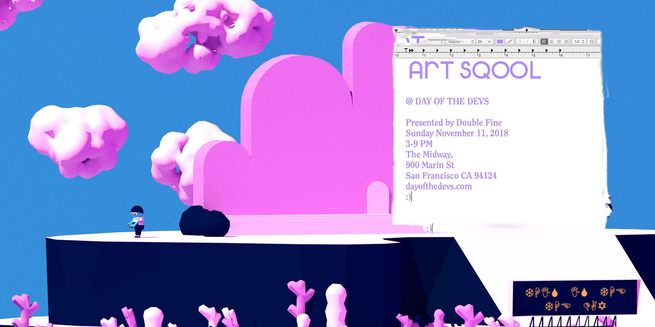 ART SQOOL will be at Day Of The Devs :)