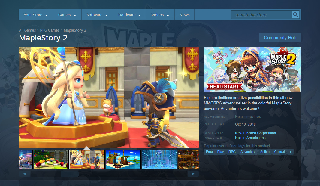 Oct 4, 2018 MapleStory 2 is now on Steam! MapleStory 2
