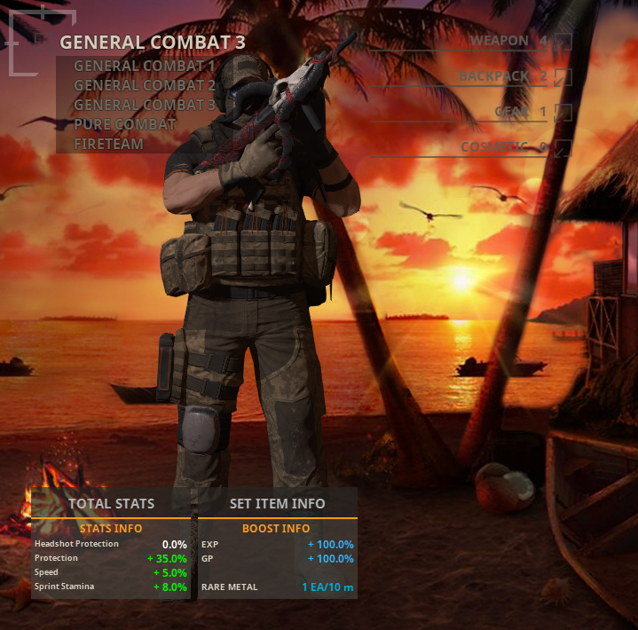 Captura de pantalla con el Multi-Loadout
