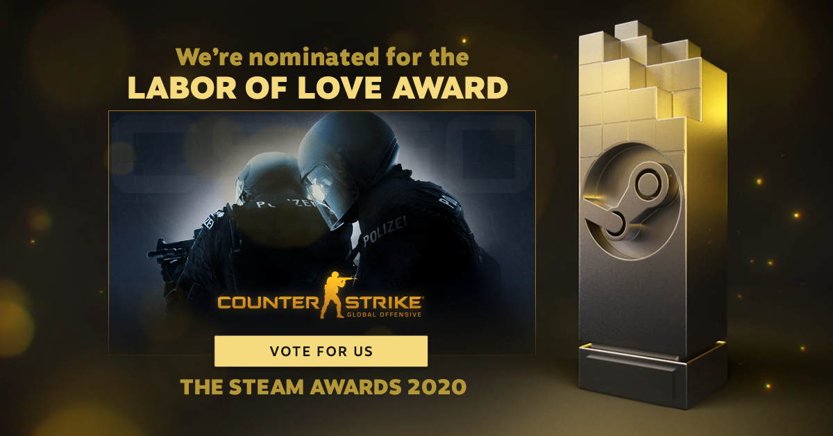 CS:GO has been nominated for the