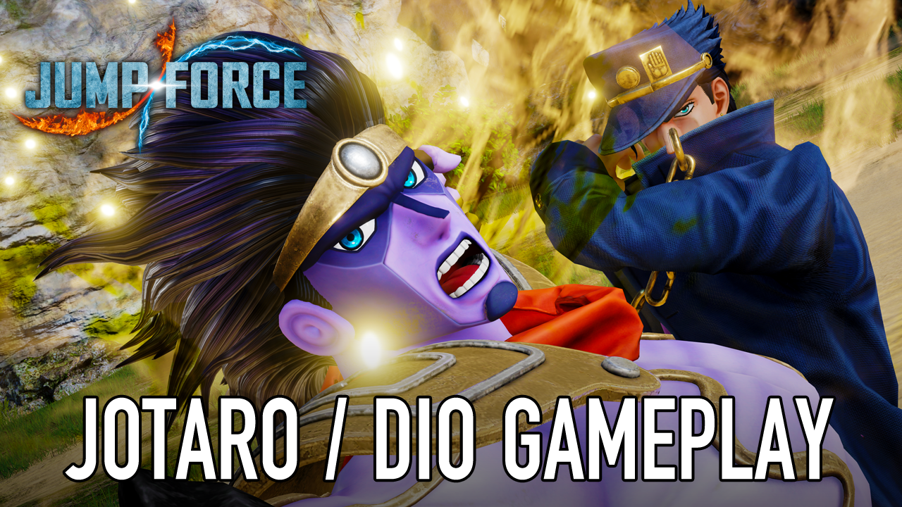 Jotaro and DIO in JUMP FORCE