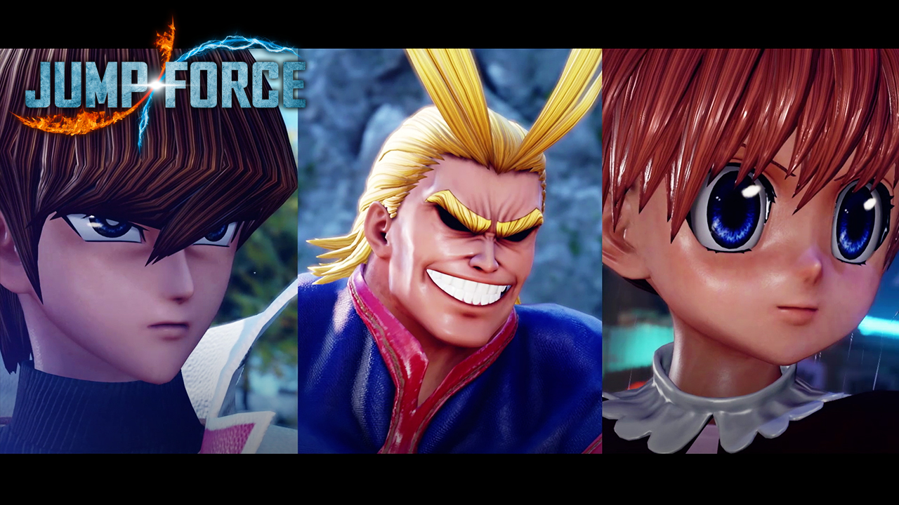 Seto Kaiba, All Might and Biscuit Krueger are now available in JUMP FORCE