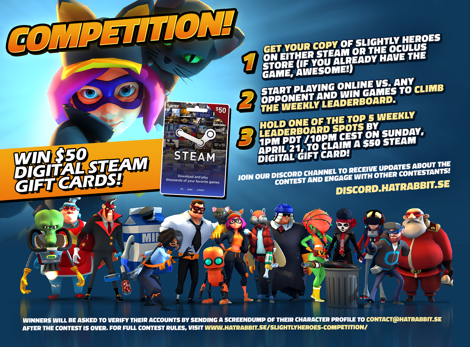 Slightly Heroes VR :: Weekly Contest: Win $50 Steam Gift Cards!