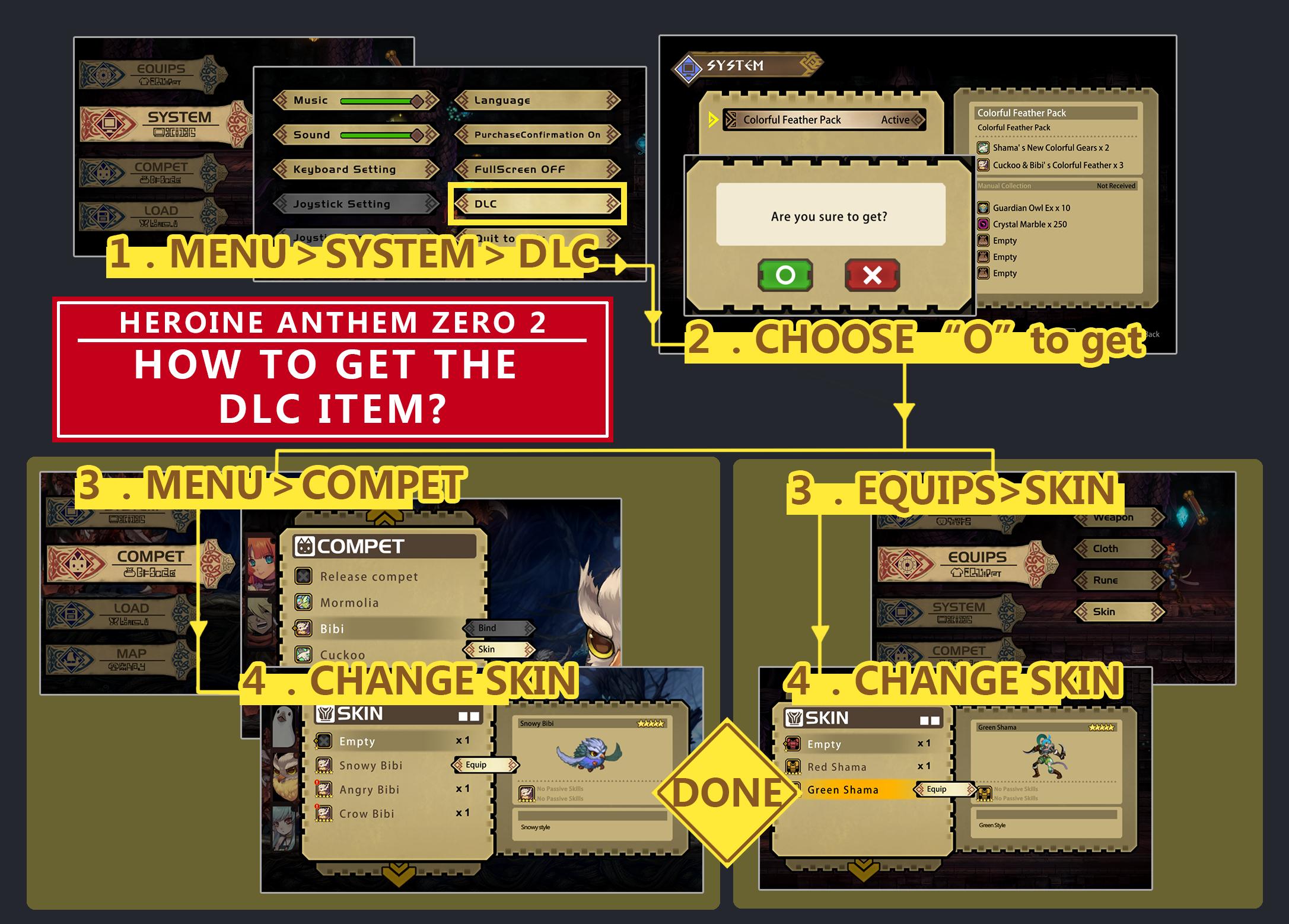 Heroine Anthem Zero:Episode 2 :: How to get the DLC item !!!!!!