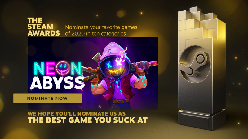 Vote For Neon Abyss In The Steam Awards 2020