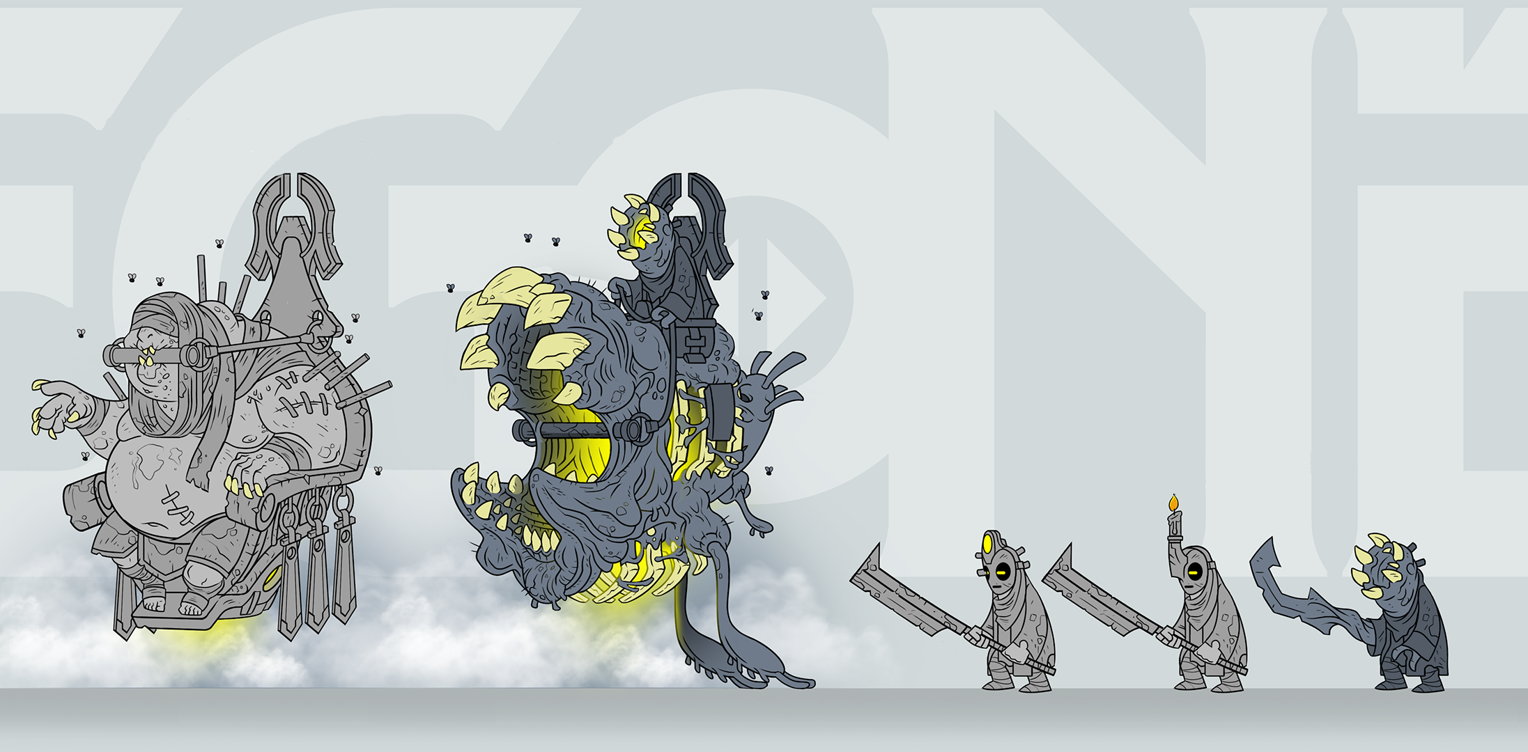 Enemy Concept for an enemy internally referred to as the Baron + some of his lil henchmen