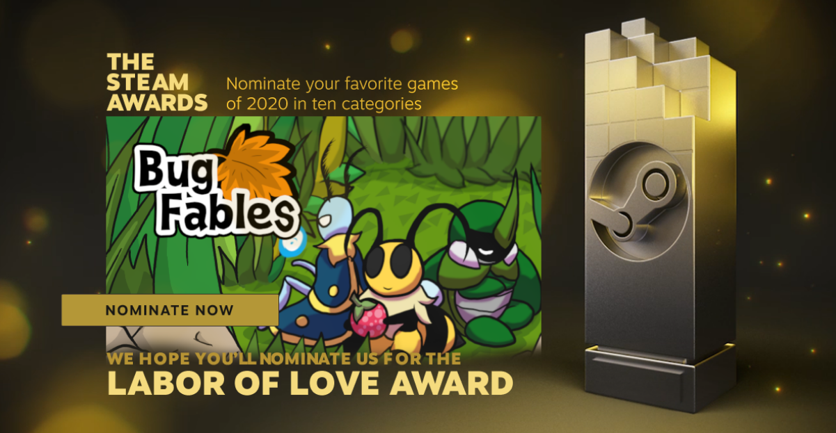 Nominate Bug Fables for the Labor of Love Award!