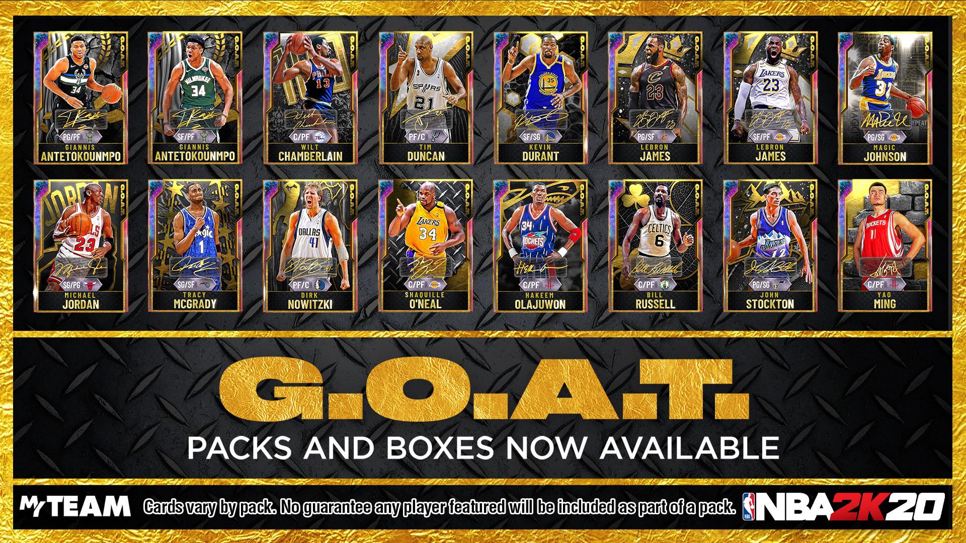 G.O.A.T. Packs