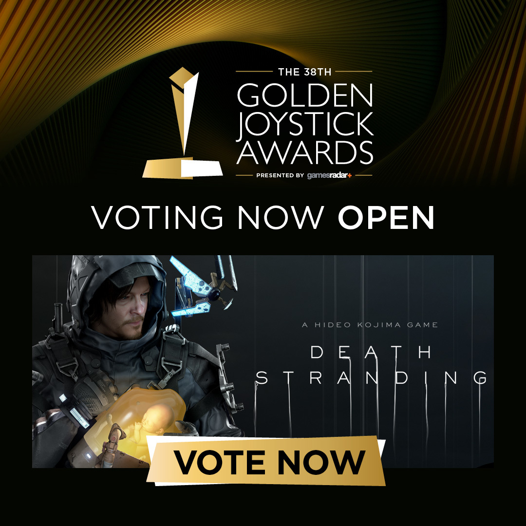 WE NEED YOUR VOTE! DEATH STRANDING NOMINATED IN THE 38TH GOLDEN JOYSTICK AWARDS
