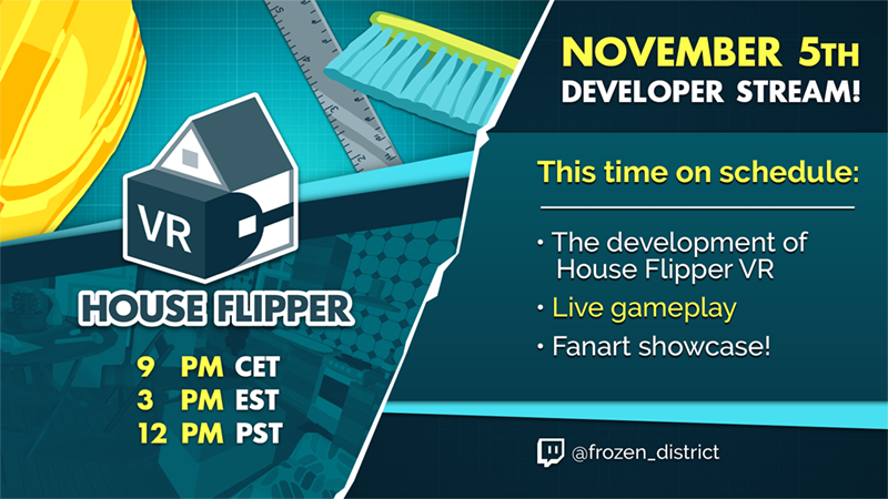 ❗️ House Flipper VR - 2 days left - Join our celebration stream ❗️