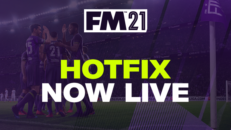 Football Manager 2021 Hotfix 21.1.2 Out Now!