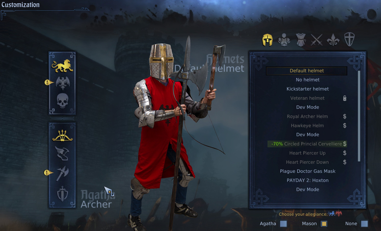 Chivalry: medieval warfare is free on steam right now.