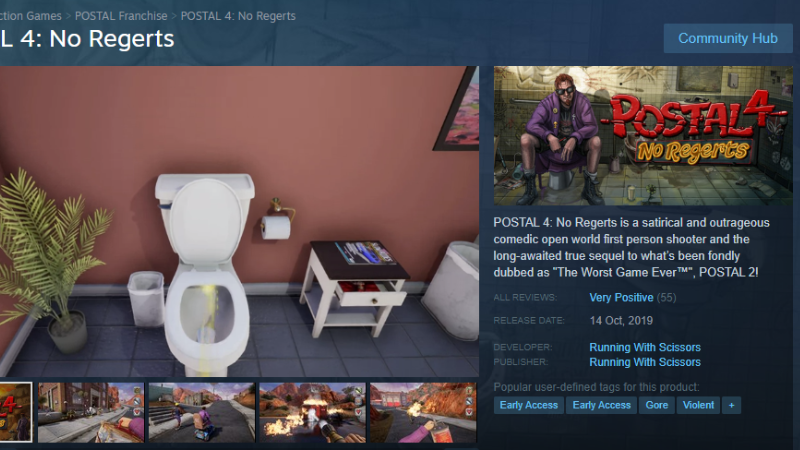 Postal 2 Postal 4 No Regerts Hits Early Access Steam News