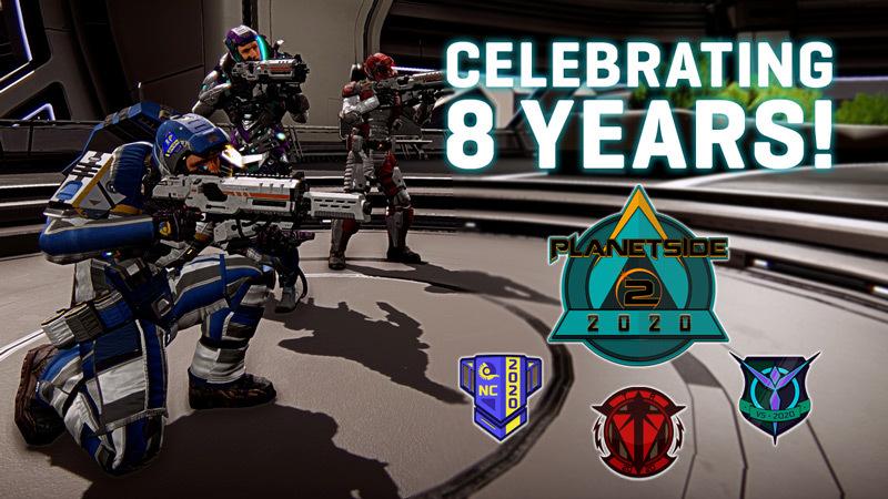 PlanetSide 2 Celebrates Eight Great Years!