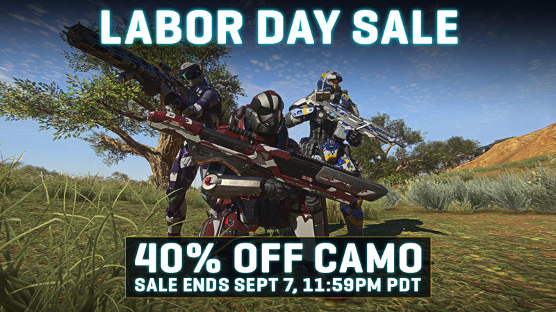 Celebrate Labor Day Weekend with 40% off all Camo!