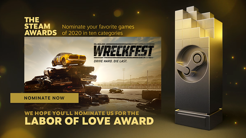 LABOR OF LOVE Award: Wreckfest