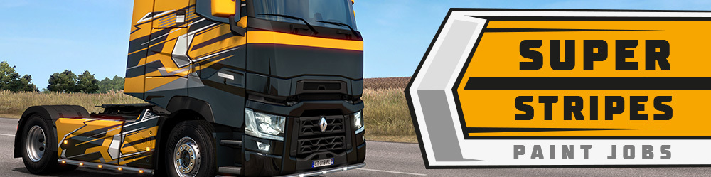 ETS2: Super Stripes Paint Jobs Pack