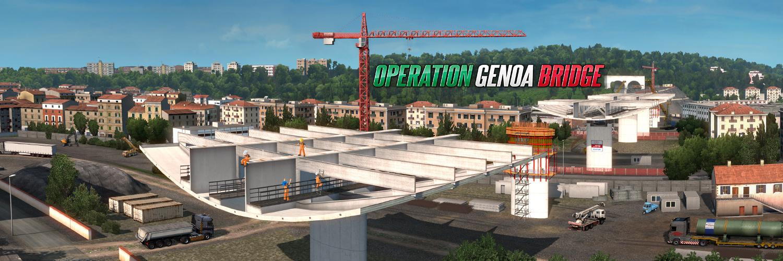 Nuovo ponte di Genova in Euro Truck Simulator 2