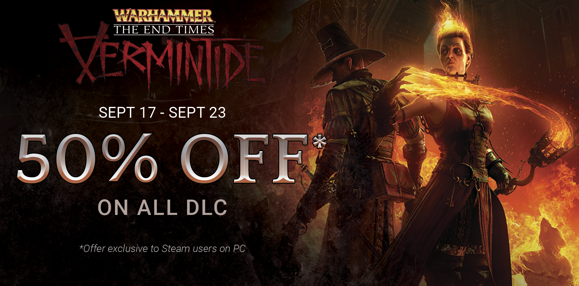 Warhammer End Times Vermintide On Steam Sticker Logo Nvidia Geforce Gt Green Optimus Gtx 50 Discount All 1 Dlc