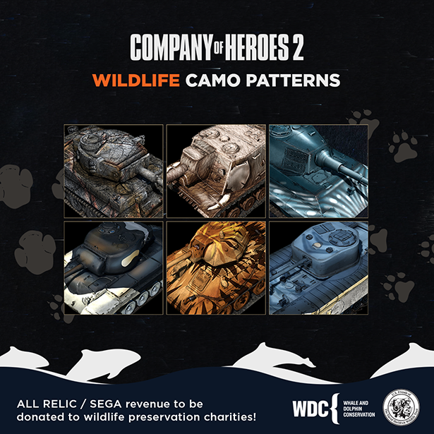 Wildlife camo patterns to support charities!