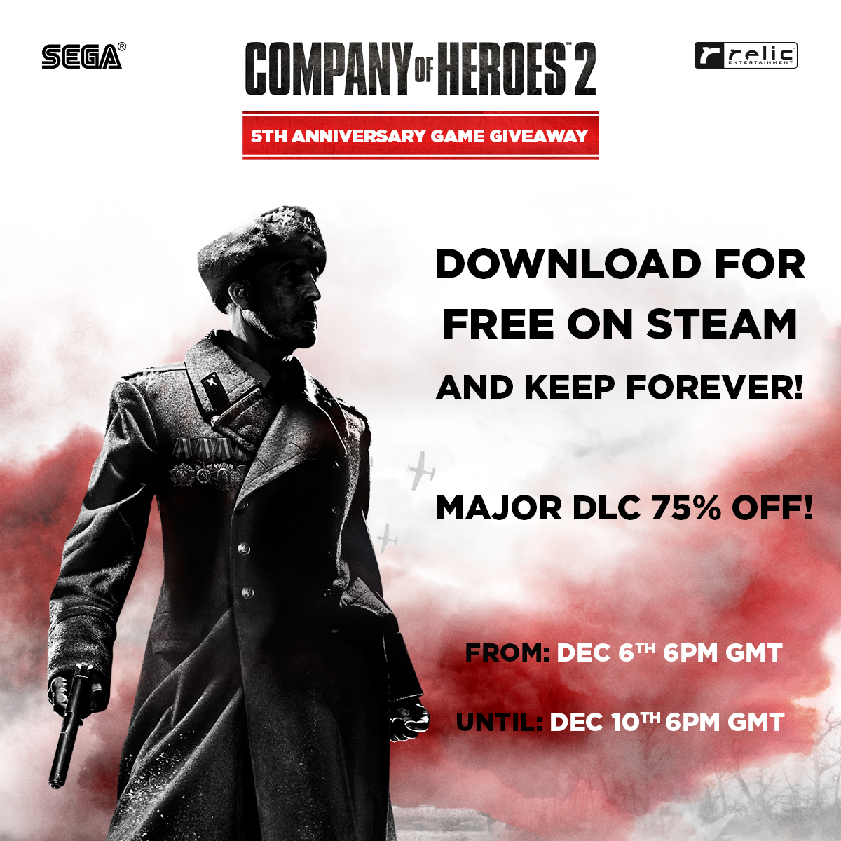 Company of Heroes 2 Game Giveaway, Sale and Tourney Finals