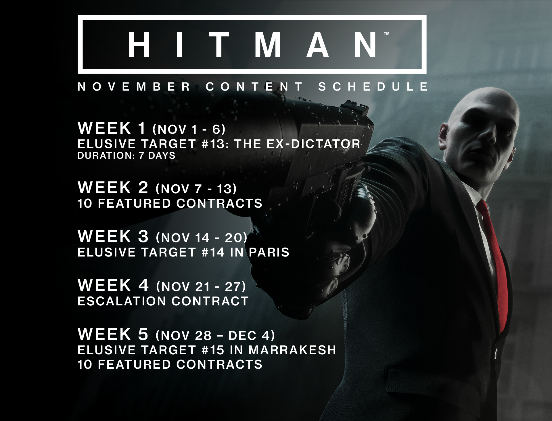 Jan 24 2017 Elusive Target 19 Arrives This Week Hitman Travisioi The Blackmailer Is Your Next Elusive Target To Arrive In Hitman He Will Be In Paris For 10 Days And If This Is The First Elusive Target You Complete In Paris You Ll Earn The Tuxedo With