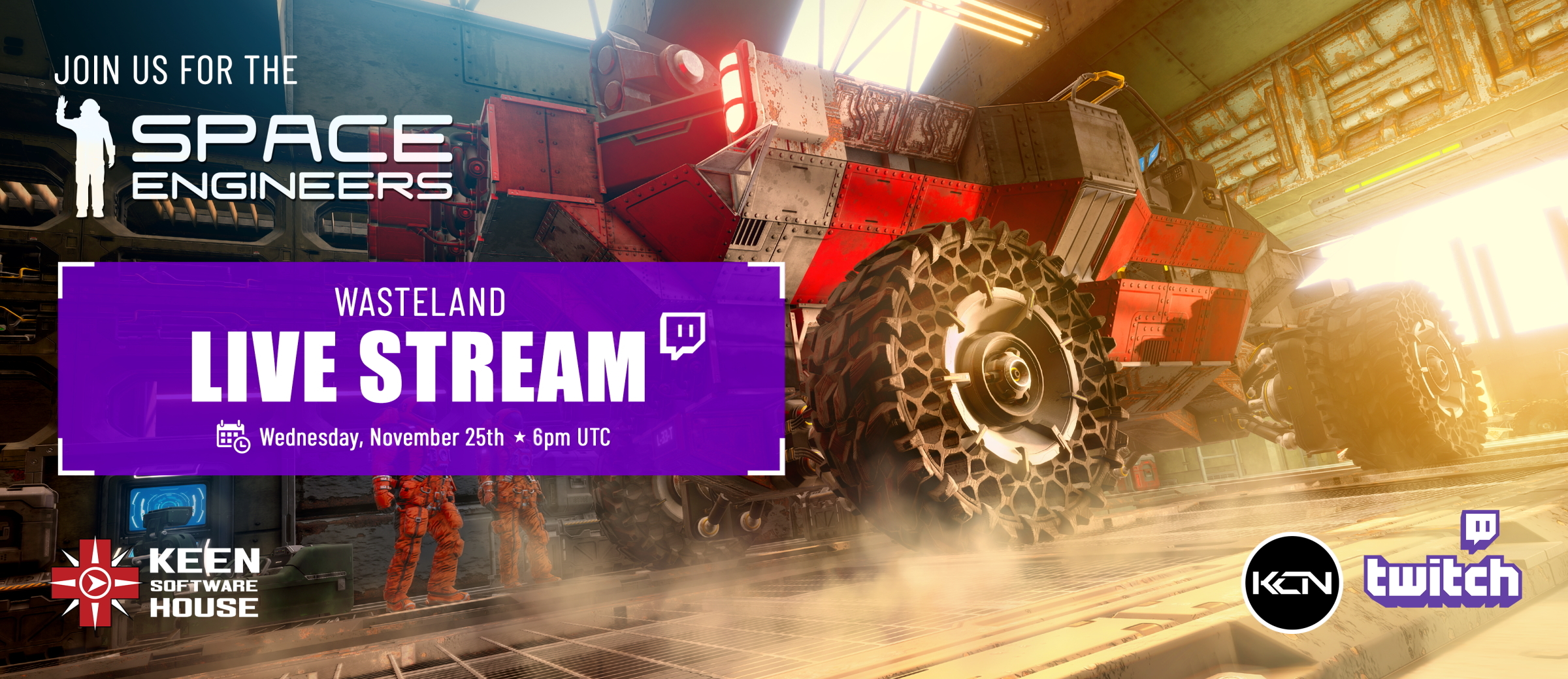 Please join us for a Space Engineers update stream! 😁