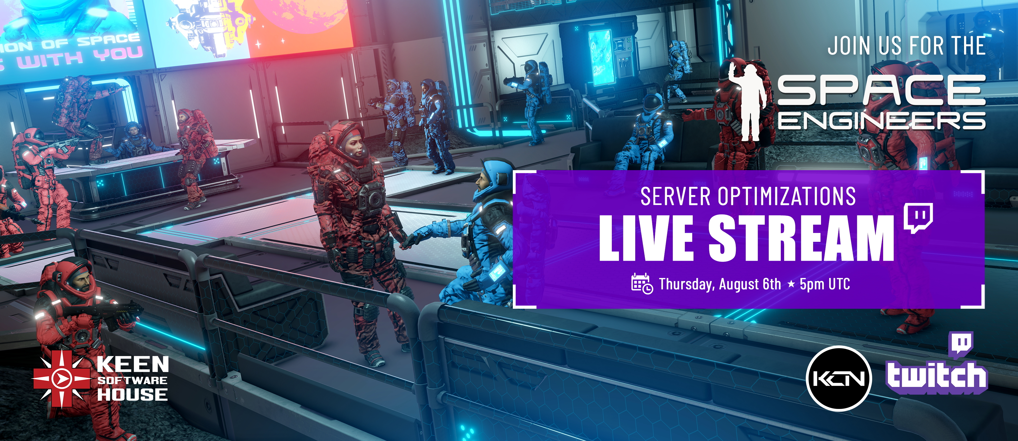 Join us for a very special Space Engineers stream!