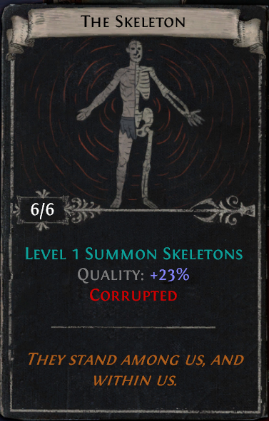 Divination Card Stories - The Skeleton and The Bones