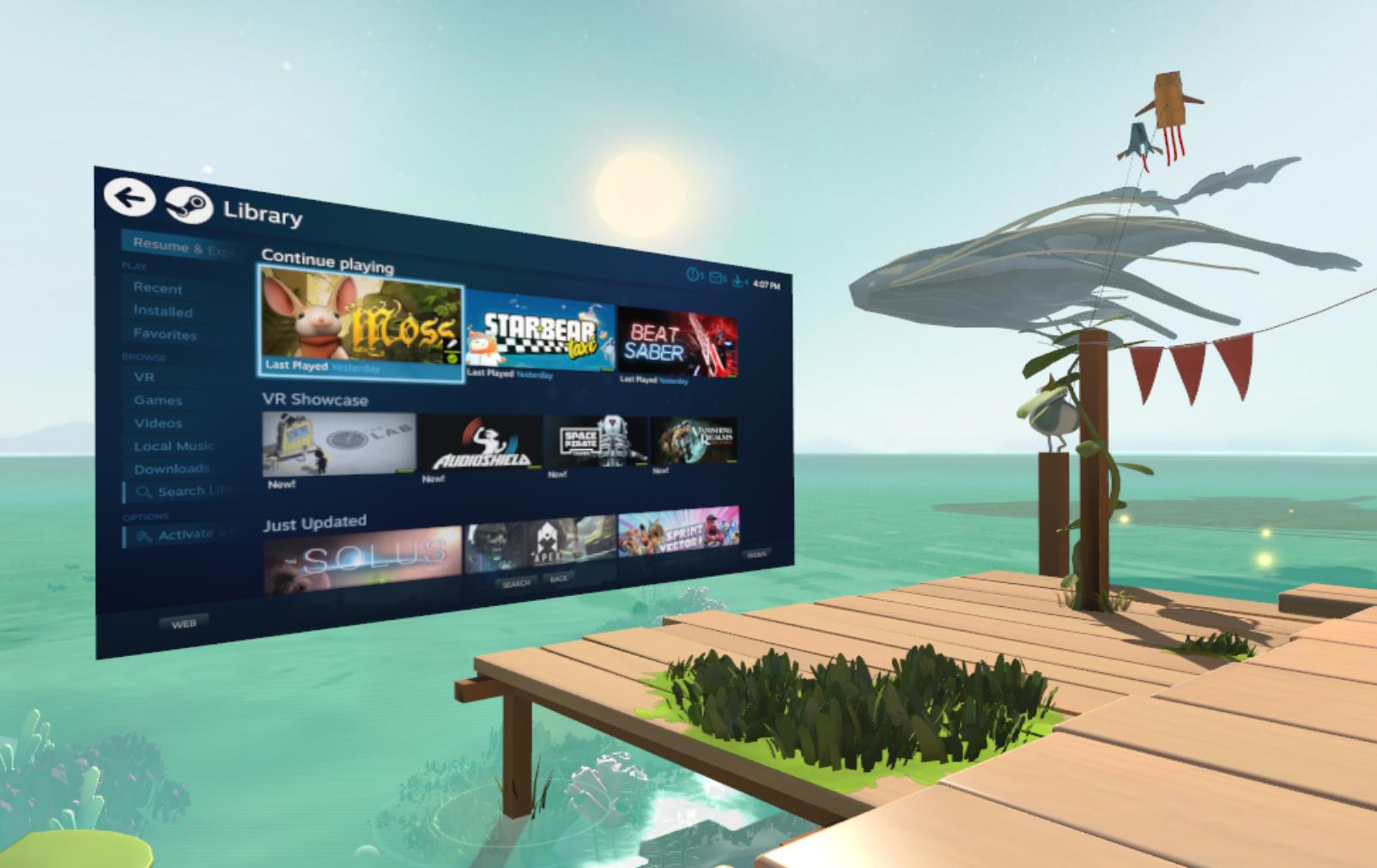SteamVR :: SteamVR Home: Steam and Desktop Panels