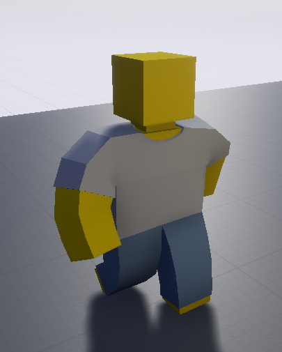 game meshes for t-shirt and jeans