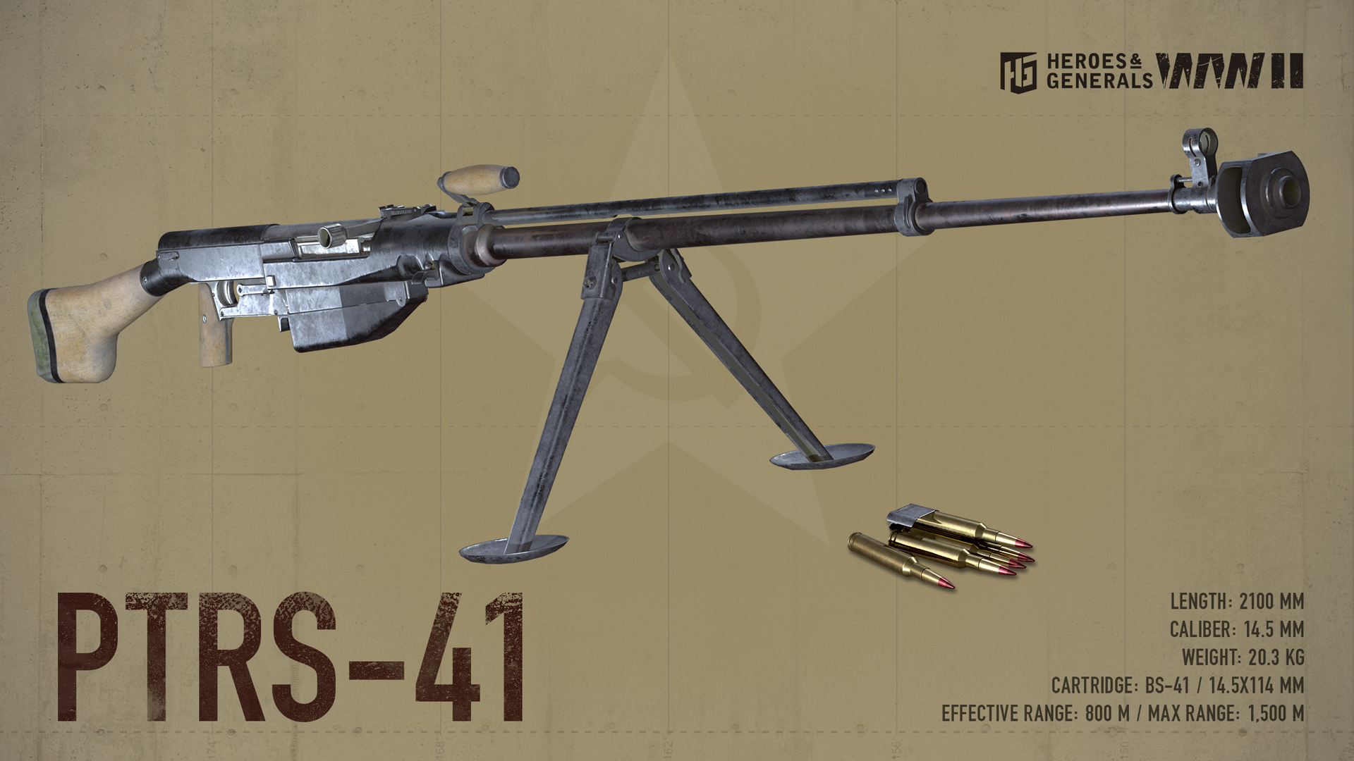 10a92f292 The PTRS-41 or Simonov anti-tank rifle is the semi-automatic analog of the  PTRD-41 anti-tank rifle. The gas-operated PTRS fires a 14.5 mm armour-piercing  ...