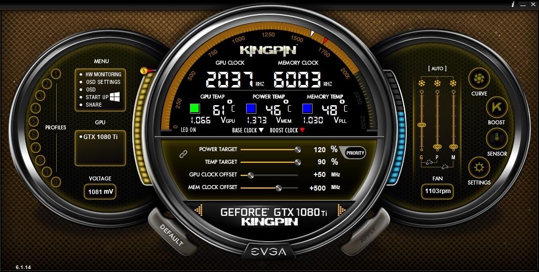 EVGA Precision X1 :: EVGA Precision XOC 6 1 14 Released