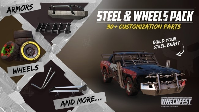 Wheels And More >> Steam Wreckfest Wreckfest Steel Wheels Pack Out Today