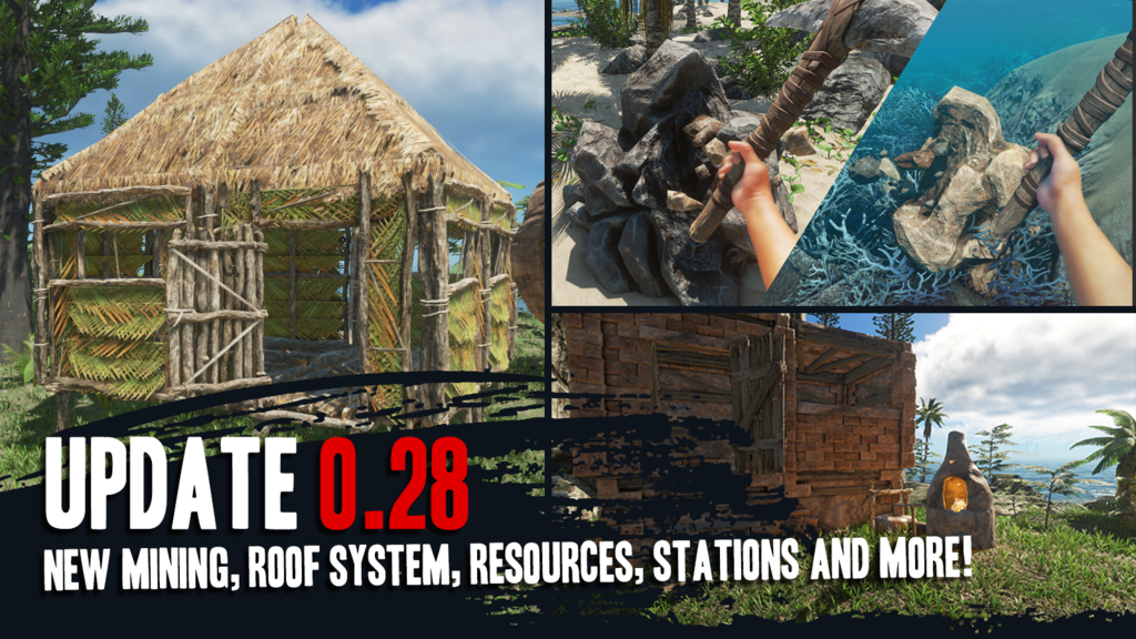 Stranded Deep Update 0 28 New Mining Roofing