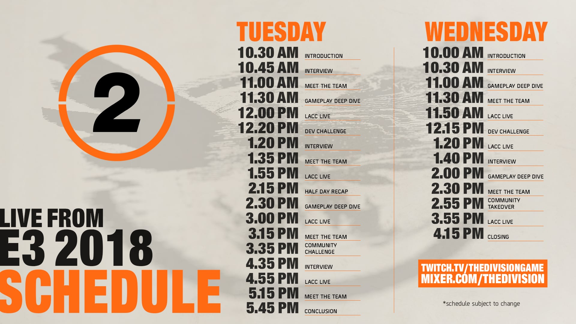 Tom Clancy's The Division :: The Division 2: Live From E3