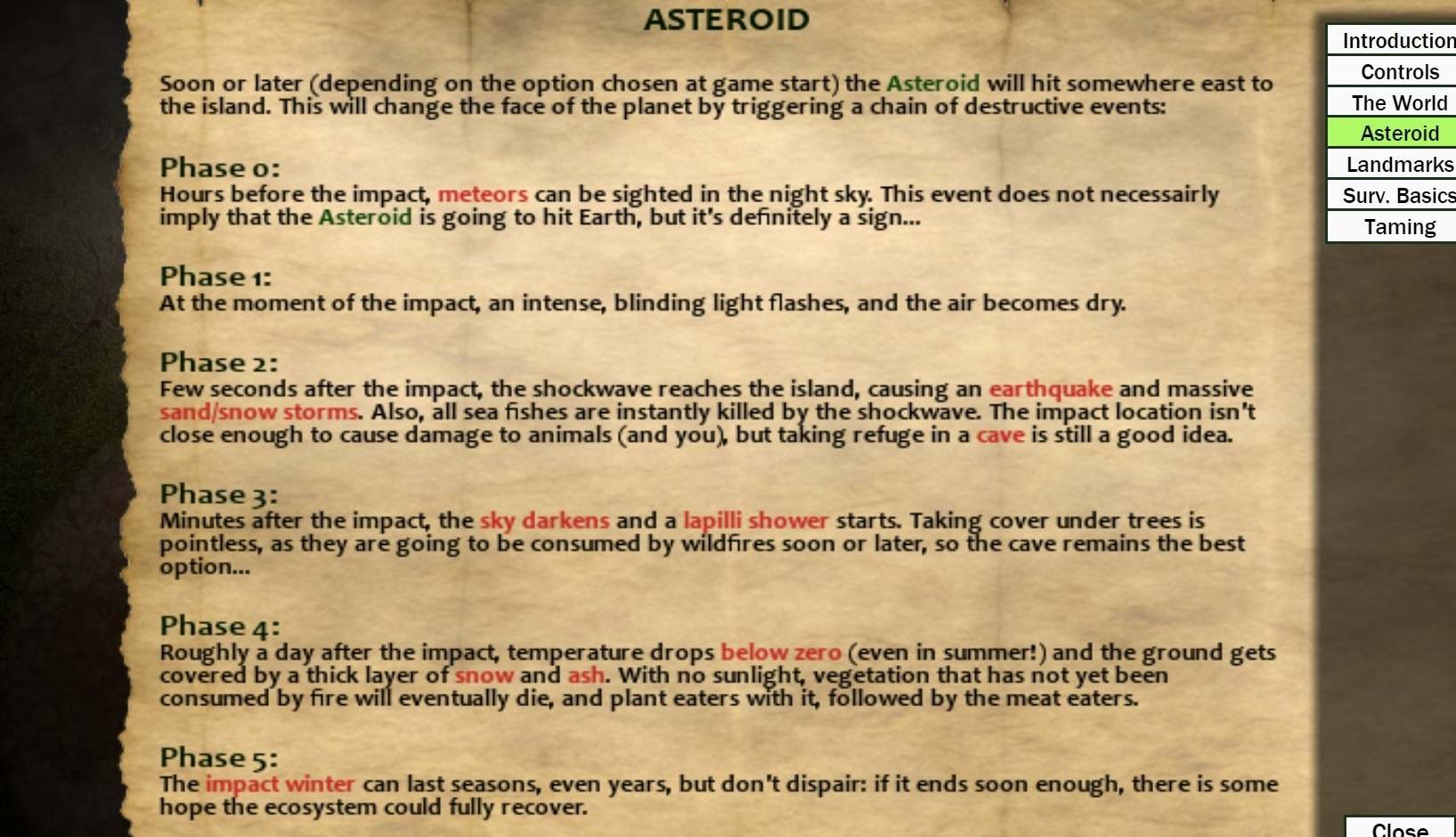 DinoSystem :: Update v0 80 0 - Asteroid, fish population