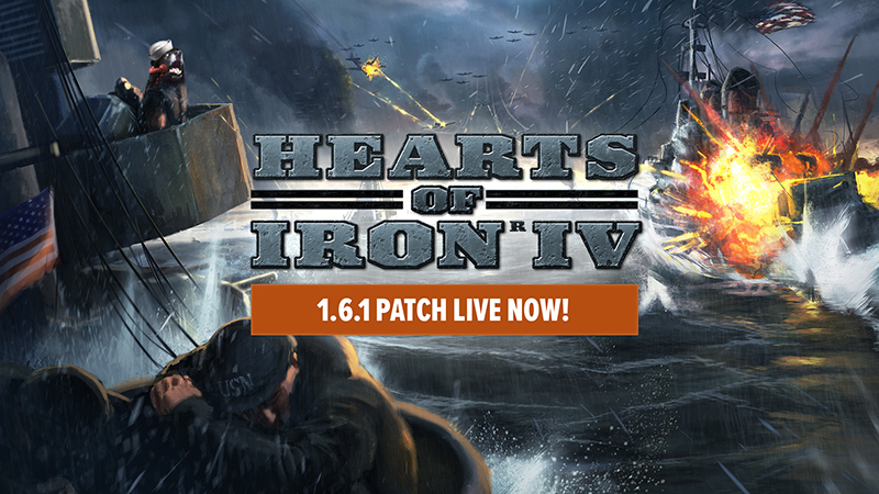 Hearts of Iron IV :: Patch 1 6 1 Live Now!