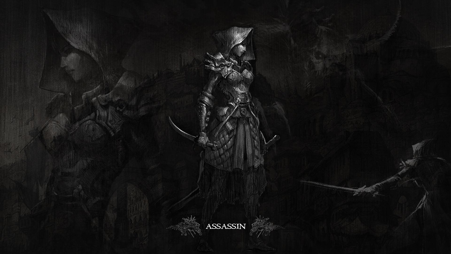 Card 1 of 11Artwork · The Assassin