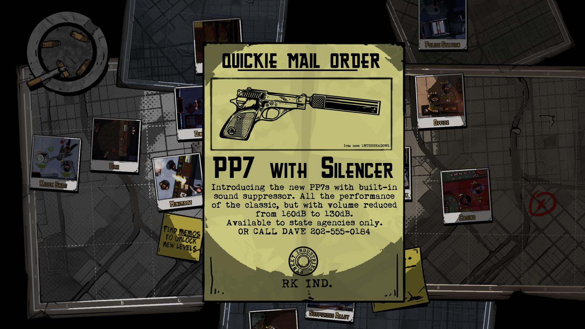 Card 2 of 5Artwork · Silenced Pistol