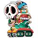 Wily Machine Giant Skull