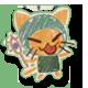 Nyot a Cat Badge