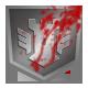 Bloodied Steel Shield
