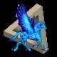 Neon Blue Pegasus