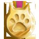 Gold cat medal